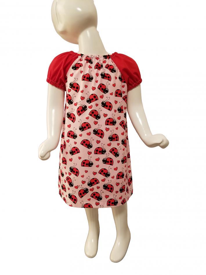 Ladybug Peasant Dress