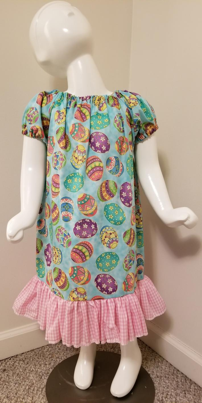 Easter Egg Ruffle Peasant Dress