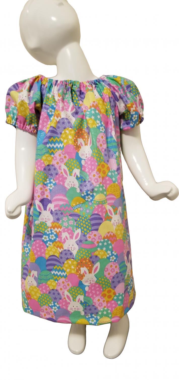 Easter Egg Bunny Peasant Dress