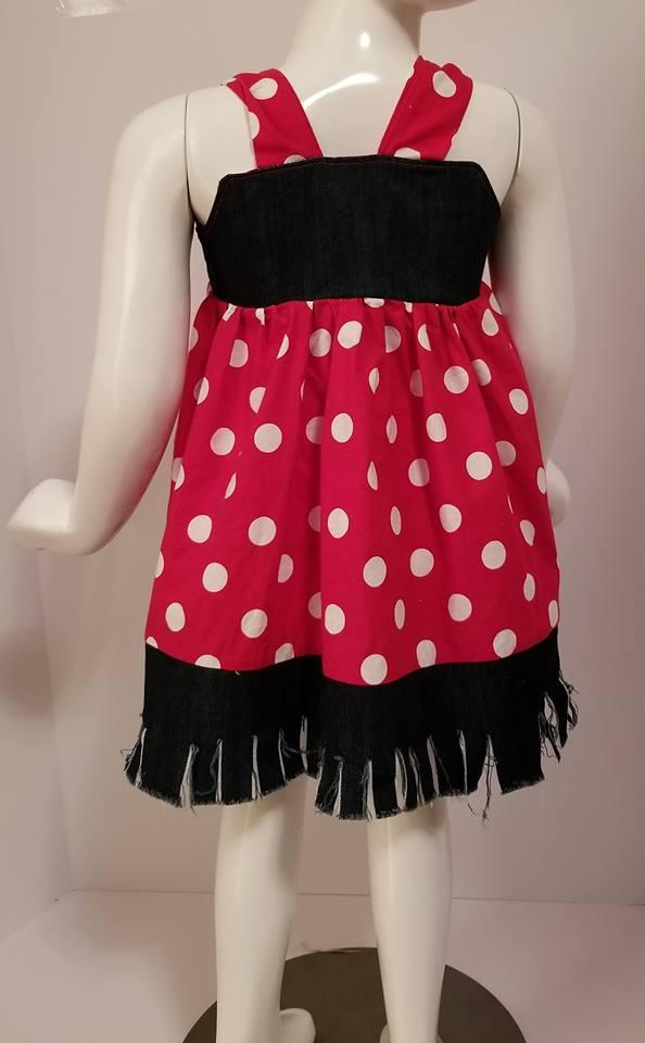 Polka Dot Jean Knot Dress