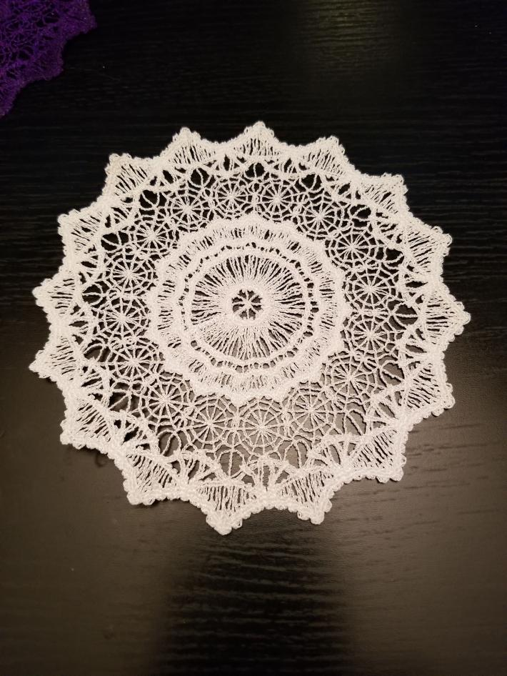 Embroidered Lace Dream Catcher Centers