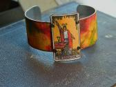 Tarot Card Cuff bracelet The Magician Mixed Media
