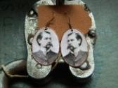 Wyatt Earp earrings mixed media jewelry