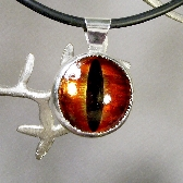 Dragon Eye Pendant color Red