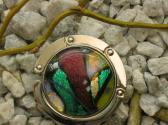 Dichroic Glass Cabochon Purse Hanger