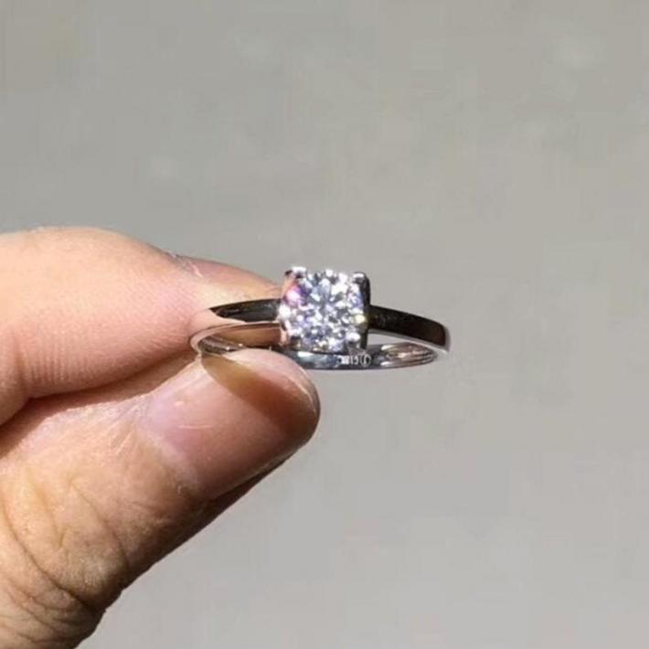 Bull Head Moissanite Engagement Ring Moissanite Diamond  18K White Gold Rings for Women  Handmade Engagement Wedding