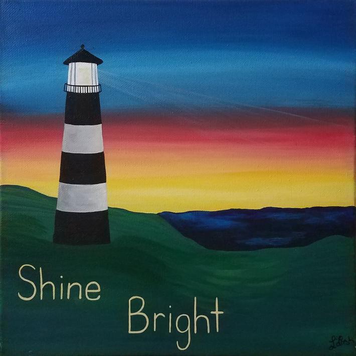 Inspirational Acrylic Painting Lighthouse