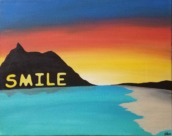 Inspirational Acrylic Painting Smile