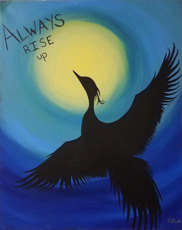 Inspirational Acrylic Painting Phoenix