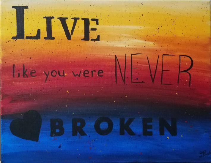 Inspirational Acrylic Painting