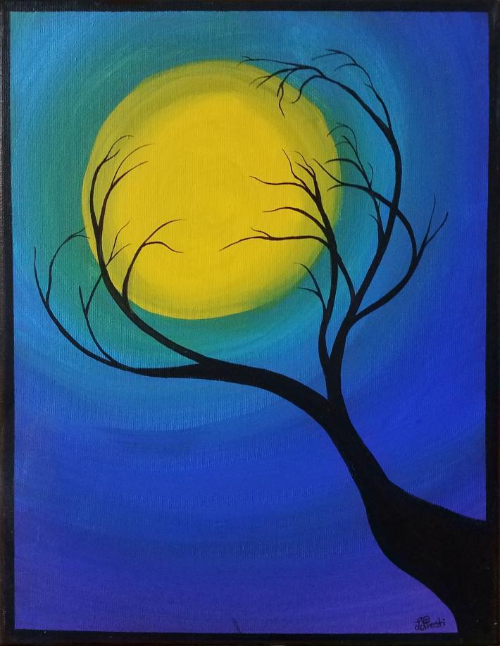 Acrylic Painting Tree