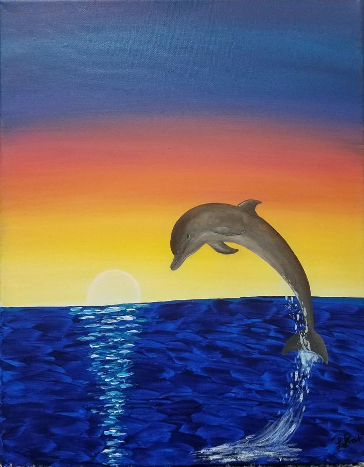 Acrylic Painting Dolphin