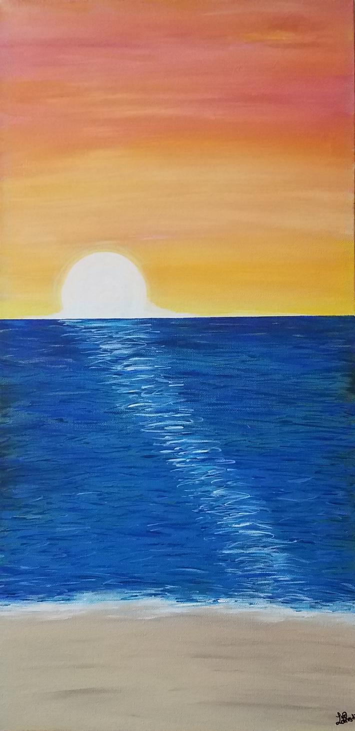 Acrylic Painting Sunrise