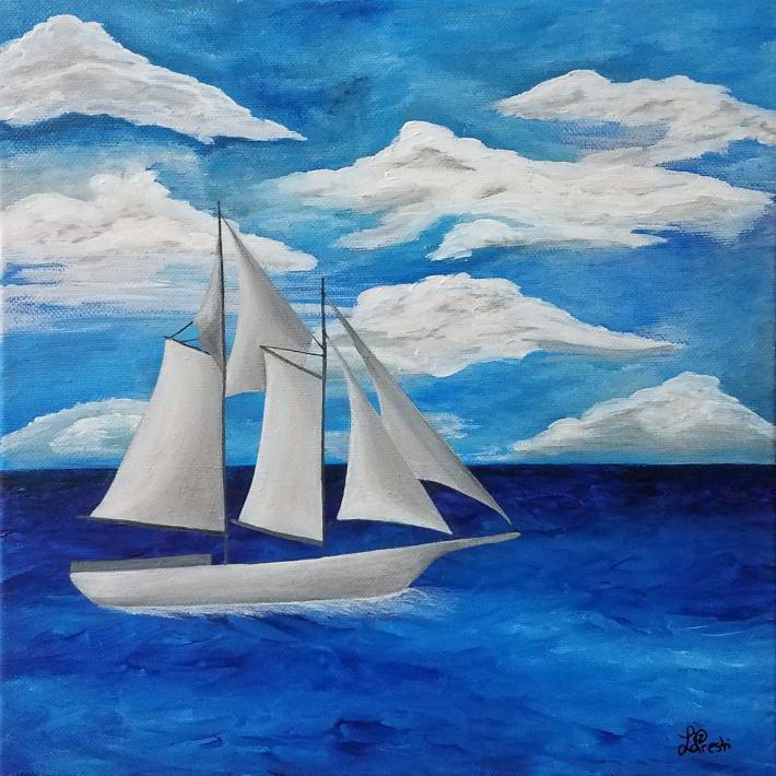 Acrylic Painting Sailboat