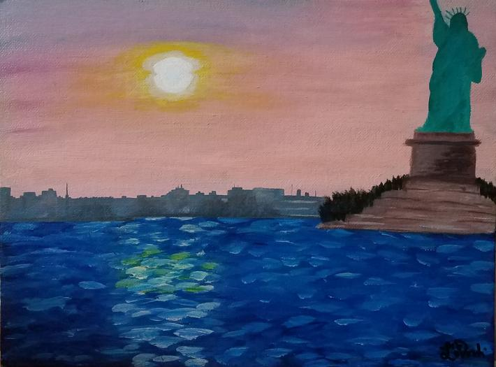 Acrylic Painting Statue of Liberty