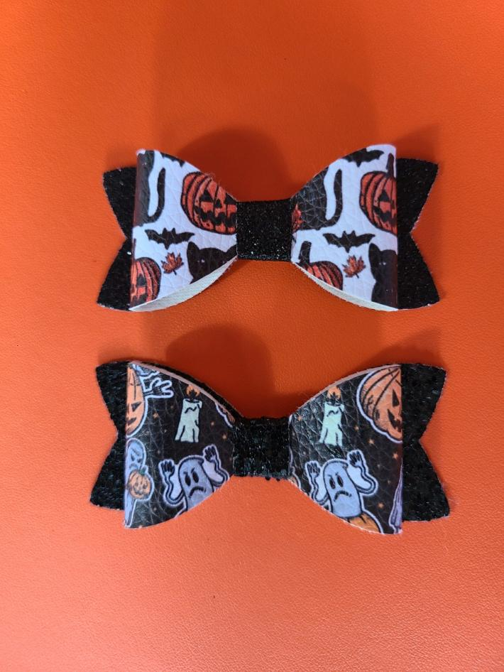 Halloween bows pumpkin cat and ghost bows