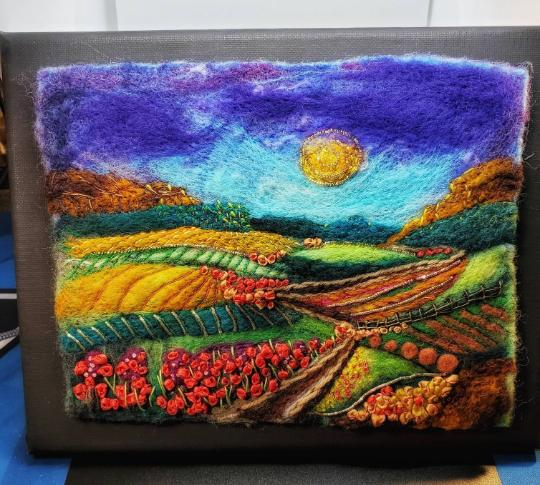 Autumn Fields  Felt art