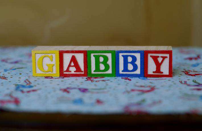 Custom Name in Painted Wooden Alphabet Blocks 5 BLOCKS