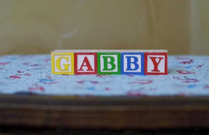 Custom Name in Painted Wooden Alphabet Blocks 5 BLOCKS