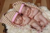 Pink Cafe Brown Knit Pixie Elf Hobbit Hat Baby Gift or Photo Prop