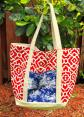 Red and Blue Great Big Tote