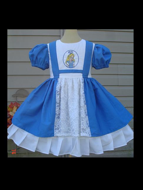 Alice in Wonderland story book made to order Dress girls dress baby dress infant dress princess dress cotton dress sundress