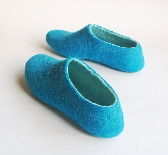 Felted slippers Teal Electric Blue Mint For Her Custom made Perfect for Christmas