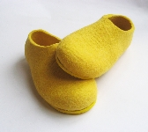 Felted Shoes Yellow with Yellow Color Sole Non Slip Rubber Wanna Banana Indoors Outdoors Womens sizes