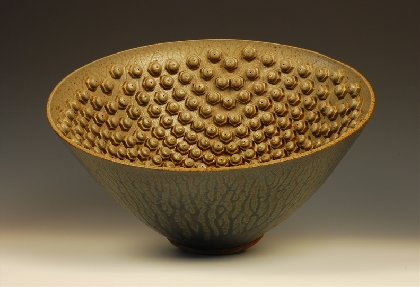 stoneware wheel thrown bowl