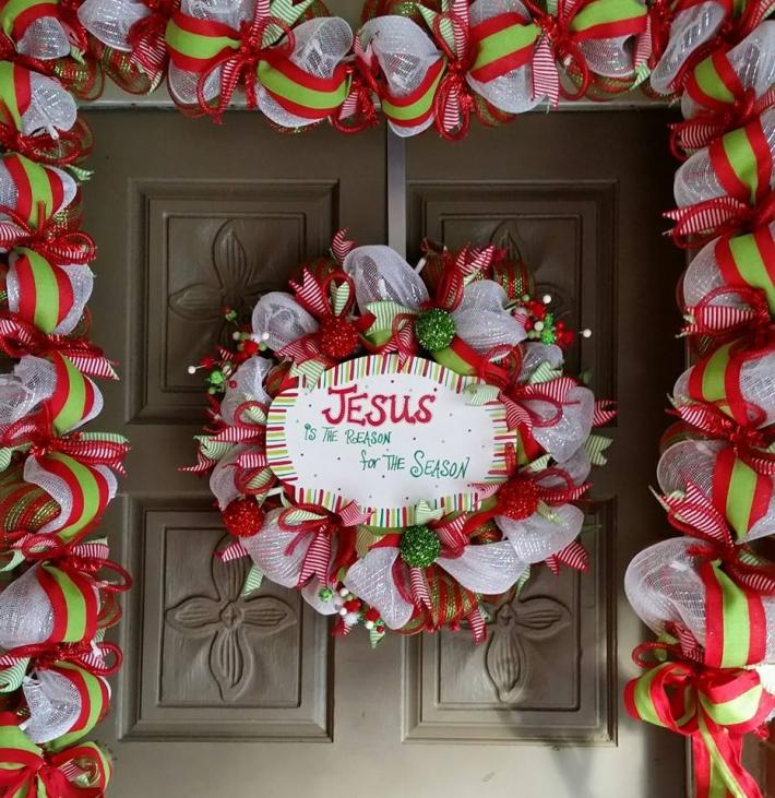 Jesus is the Reason for the Season Wreath and Garland