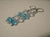 Swarovski Crystal Earrings Light Blue