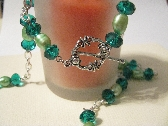 Green Swarovski Crystal and Potato Pearl Set
