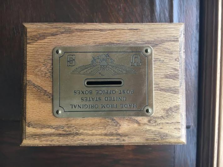 Post Office Box Door Coin Bank  Large