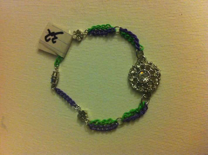 funky green n purple