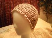 Ladies Beaded Cotton Beanie
