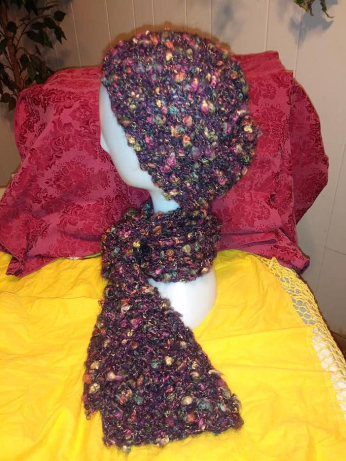 Knit Hat and Scarf Set