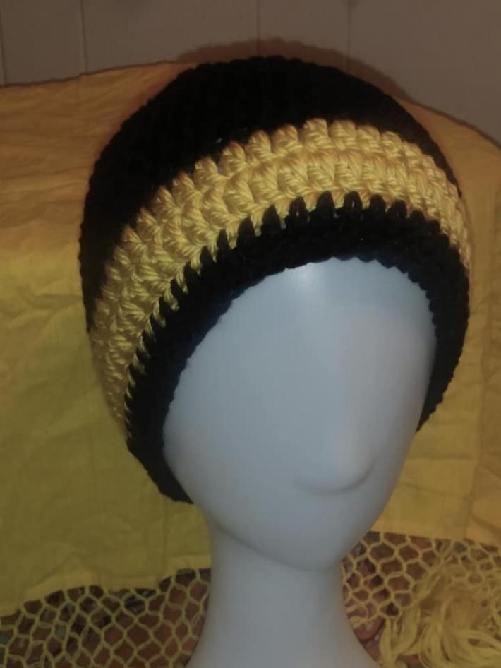 New Orleans Saints inspired beanie