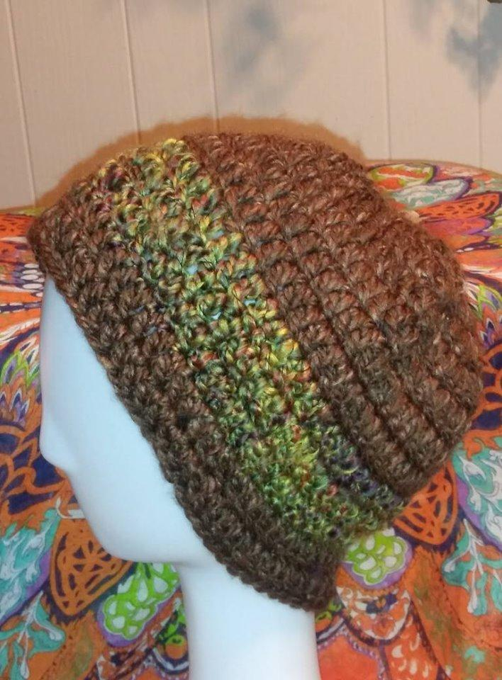 Camo Stripe Brown Beanie