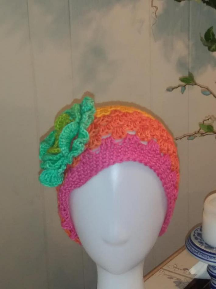 Cotton Crocheted Beanie