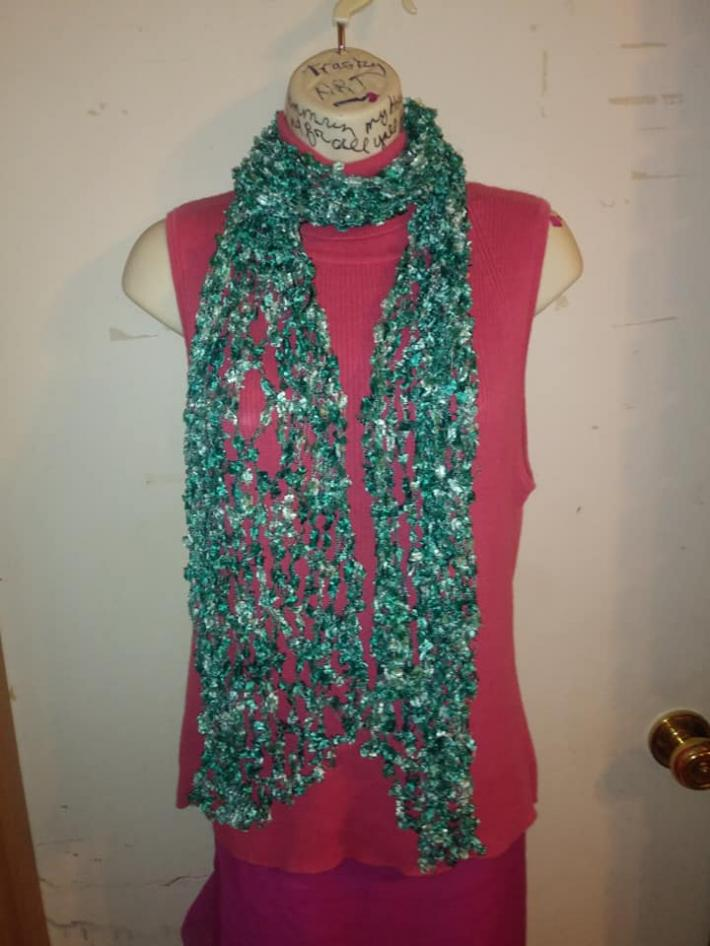 Butterfly Ribbon Mesh Scarf