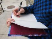 Tie dye hand bound journal