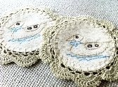 Coasters 2 pcs make from cotton
