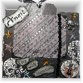 Teen Premade Self Standing Scrapbook Page