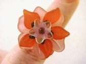 Pretty in Pink Spring Lucite Blossom Ring