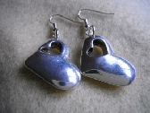 Double heart earrings