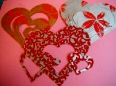 18 Red die cut hearts