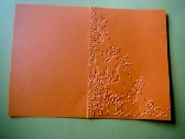 5 orange embossed cardstock