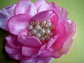 Pink flowered jem brooch