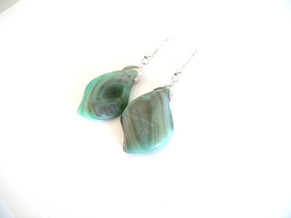 Agate Earrings Mint earrings Gemstone earrings