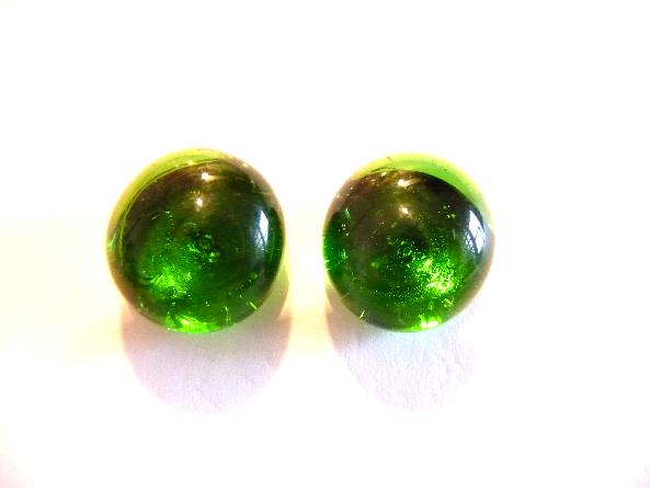 Green Post Earrings Stud earrings Green earrings